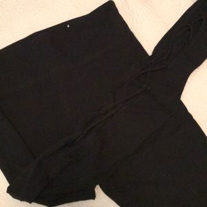 Black leggings with corset legs